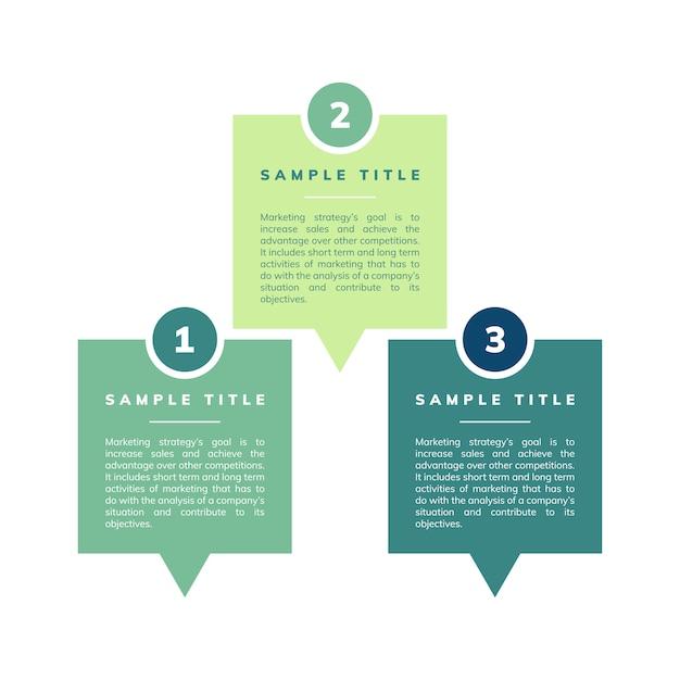 Vecteur stratégie et objectifs marketing Vecteur gratuit