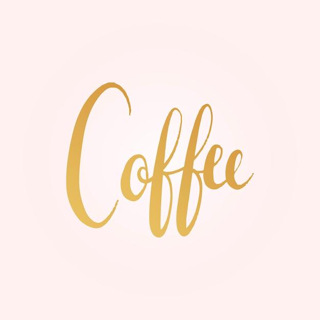 Vecteur de style mot typographie café Vecteur gratuit
