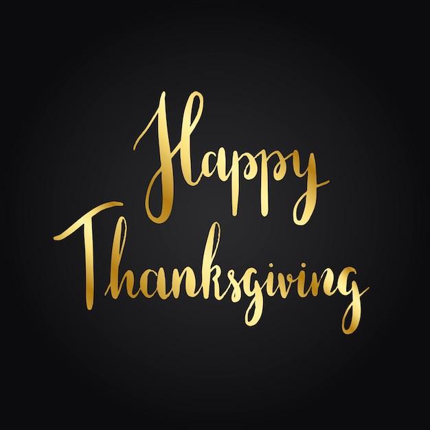 Vecteur de style de typographie happy thanksgiving Vecteur gratuit