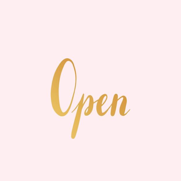 Vecteur de style typographie signe ouvert Vecteur gratuit