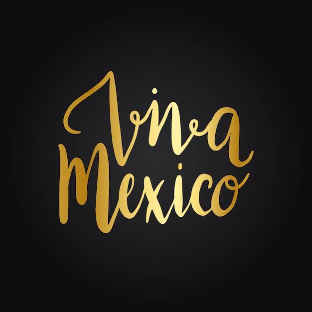 Vecteur de style typographie viva mexico Vecteur gratuit