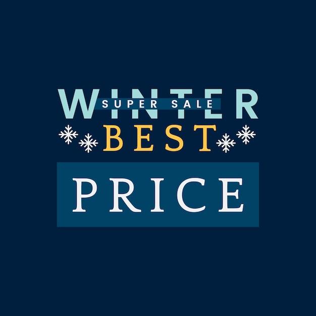 Vecteur de super vente d'hiver meilleur prix Vecteur gratuit
