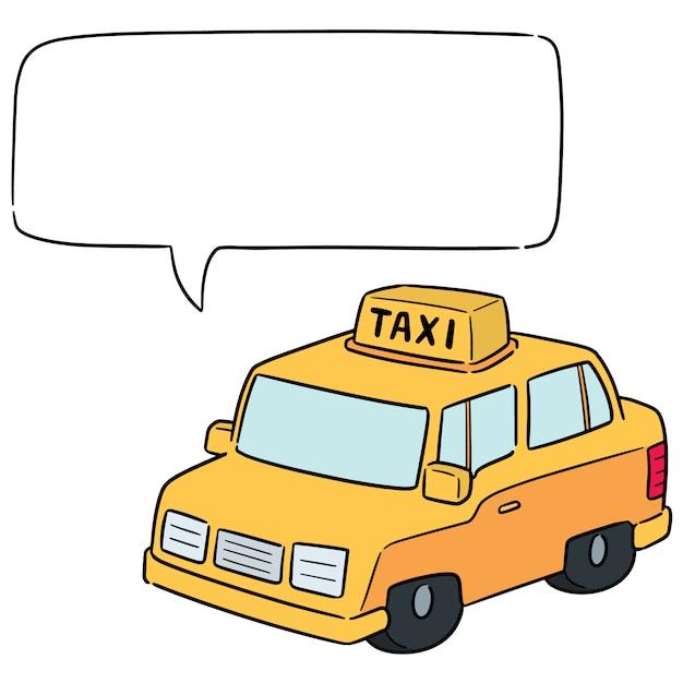 Vecteur de taxi Vecteur Premium