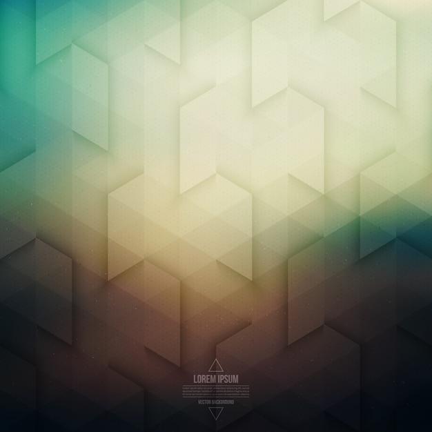 Vecteur technologie abstrait géométrique rétro Vecteur Premium