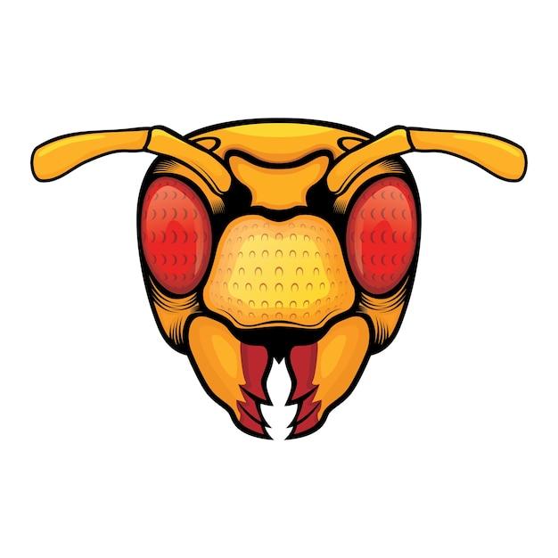 Vecteur tête d'abeille Vecteur Premium