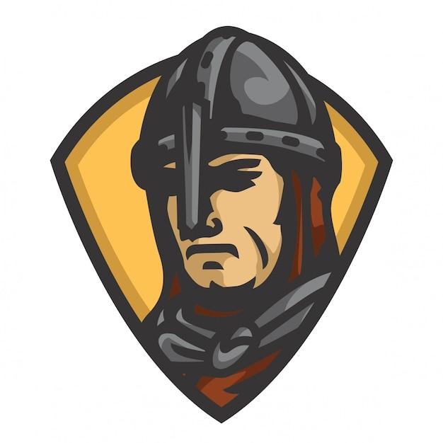 Vecteur tête chevalier médiéval Vecteur Premium
