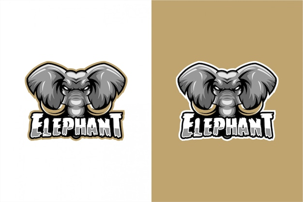 Vecteur Tête D'éléphant Vecteur Premium