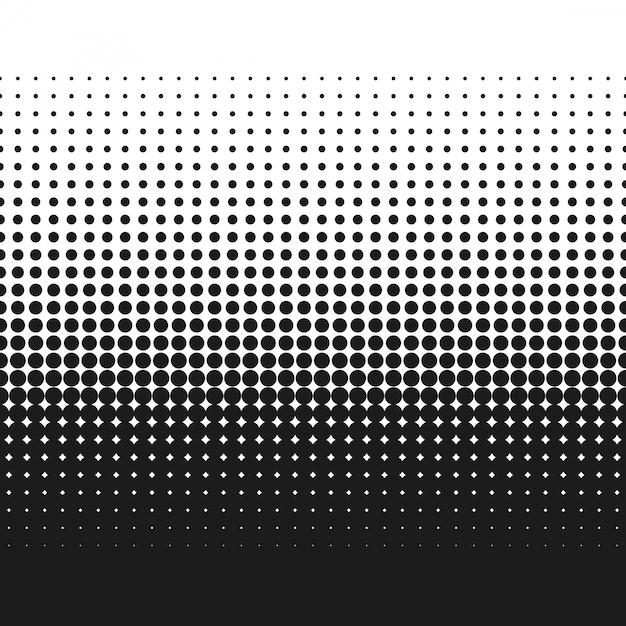 Vecteur de texture dégradée en pointillés demi-teintes Vecteur Premium