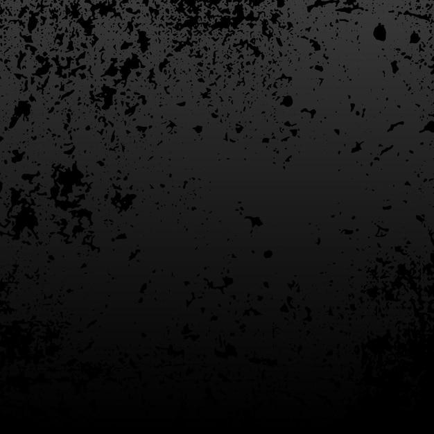 Vecteur de texture en détresse grunge noir Vecteur gratuit
