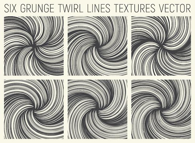 Vecteur de textures lignes grunge twirl Vecteur Premium