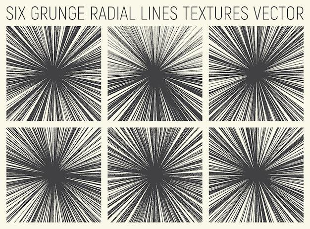 Vecteur de textures lignes radiales grunge Vecteur Premium
