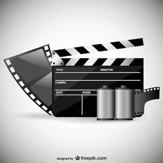 Vecteur de thème de film Vecteur gratuit