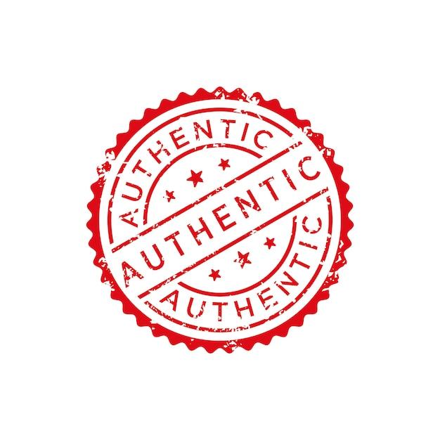 Vecteur de timbre authentique Vecteur Premium
