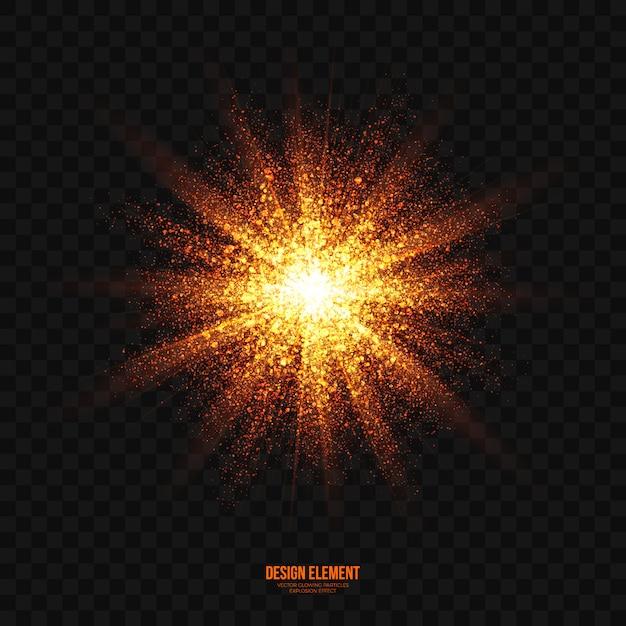 Vecteur transparent effet lumineux explosion abstraite Vecteur Premium