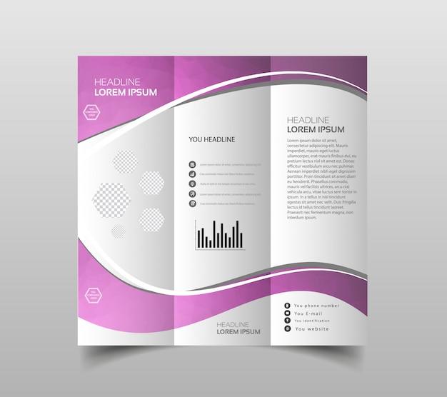 Vecteur, de, tri-fold, modèles de conception brochure Vecteur Premium