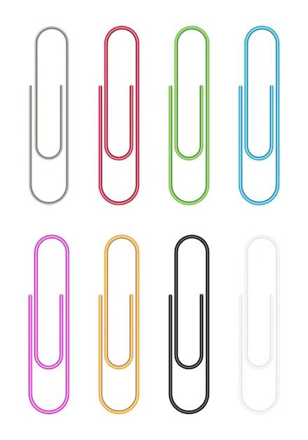 Vecteur de trombone coloré Vecteur Premium