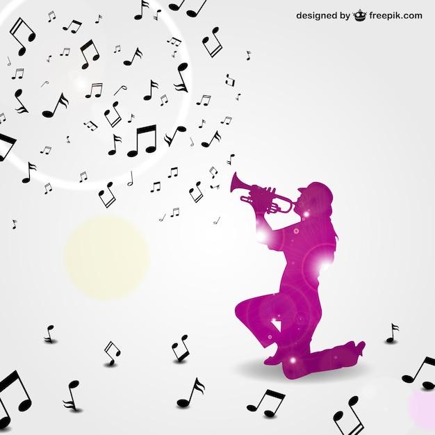 Vecteur Trompettiste De Jazz Fond T 233 L 233 Charger Des
