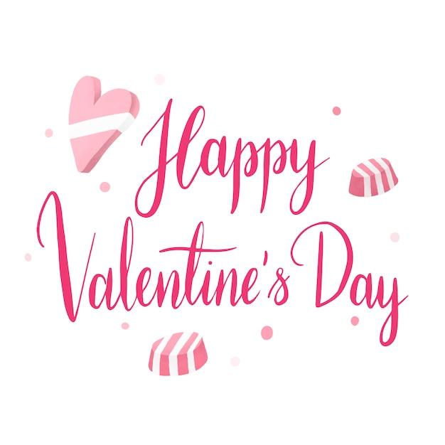 Vecteur de typographie heureuse saint valentin Vecteur gratuit