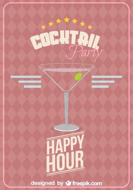 Vecteur de verre de cocktail gratuit Vecteur gratuit