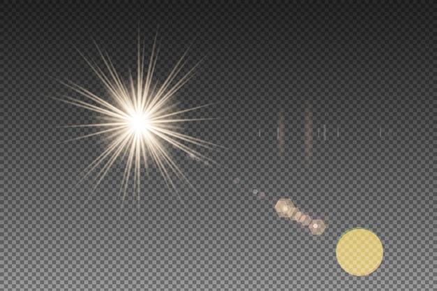 Vecteurs flare translucent Vecteur Premium