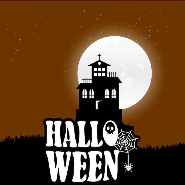 Vecteurs de fond d'halloween Vecteur gratuit
