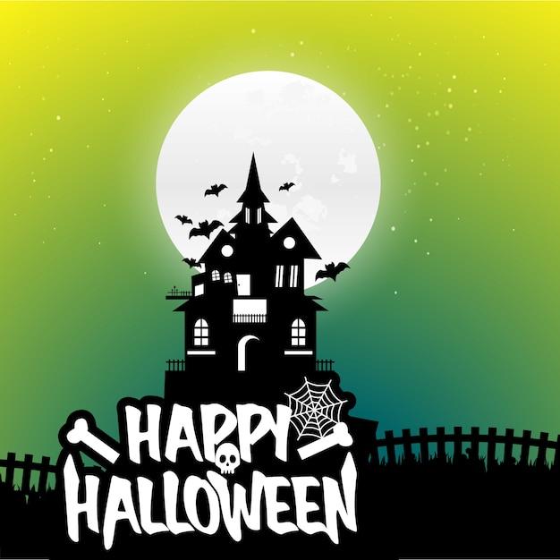 Vecteurs de fond halloween Vecteur gratuit