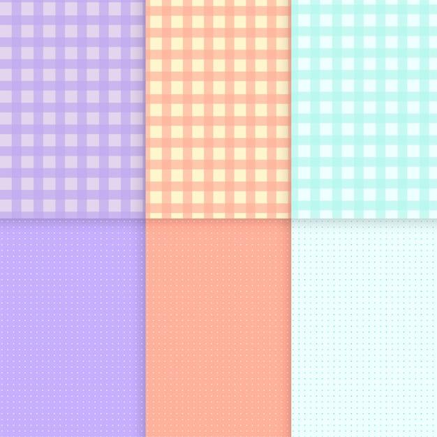 Vecteurs de fond pastel motif mixte Vecteur gratuit