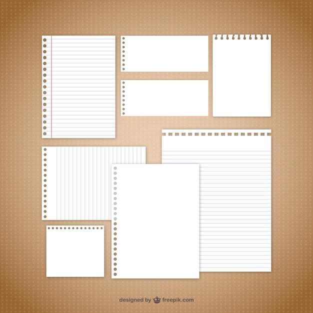 Vecteurs Papier De Note Vecteur Premium