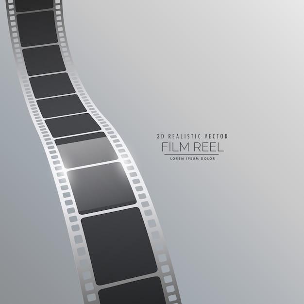 Vector 3d film strip background design Vecteur gratuit
