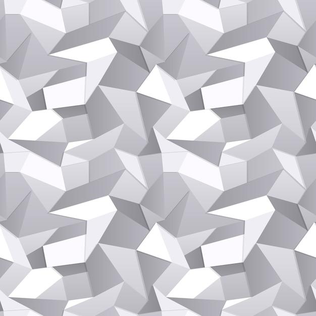 Vector 3d Fond Abstrait Papier Froissé Sans Soudure Vecteur gratuit