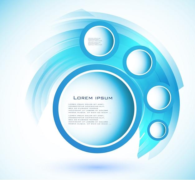 Vector abstract circle blue. courbe Vecteur gratuit