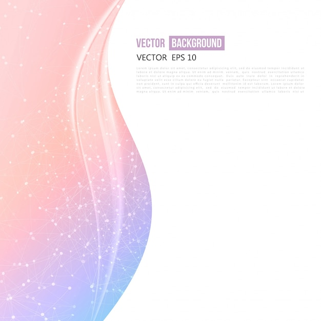 Vector Abstraite Conception De Fond Ondulé. Vecteur gratuit