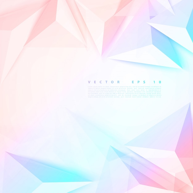 Vector background abstract polygon triangle. Vecteur gratuit