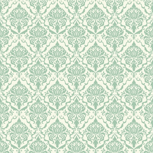 Vector Background Damask Seamless Pattern. Ornement Classique En Damas à L'ancienne, Texture Victorienne Sans Soudure Pour Papiers Peints, Textile, Emballage. Modèle Baroque Floral Exquis. Vecteur gratuit