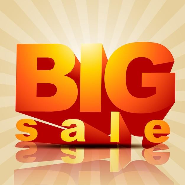 Vector big sale poster style background Vecteur gratuit