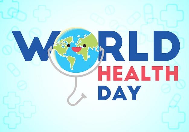 Vector illustration conceptuelle de la journée mondiale de la santé Vecteur Premium