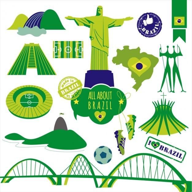 Vector illustration du brésil Vecteur gratuit