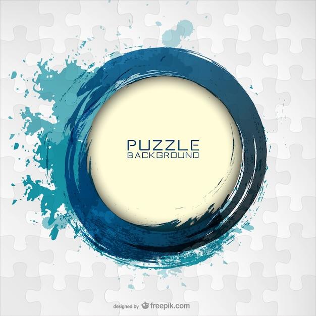 Vector puzzle conception de modèle libre Vecteur gratuit