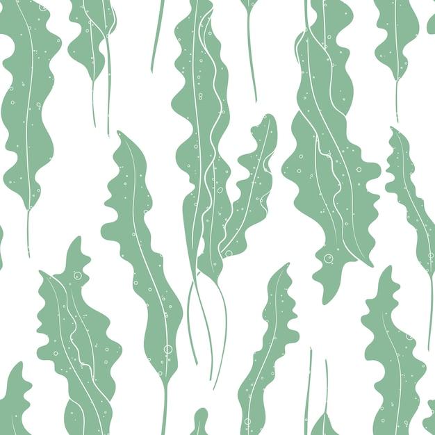 Vector Texture D'algue Sans Soudure De Fond. Vecteur Premium