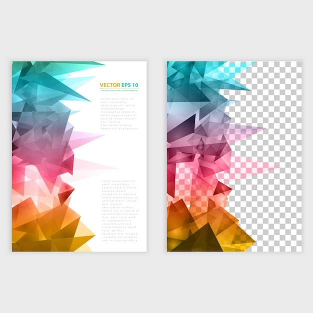 Vector Triangles pattern background. Vecteur gratuit