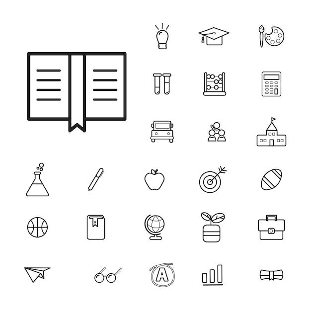 Vector ui illustration education concept d'étude scolaire Vecteur gratuit