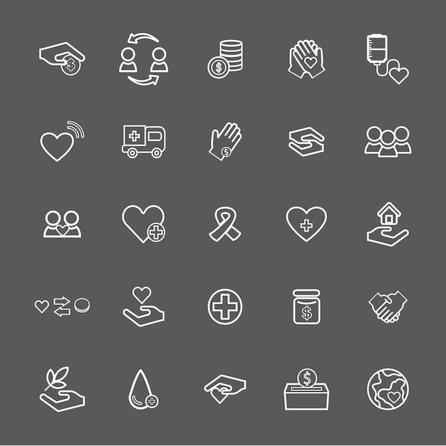 Vector ui illustration santé donation concept de charité Vecteur gratuit