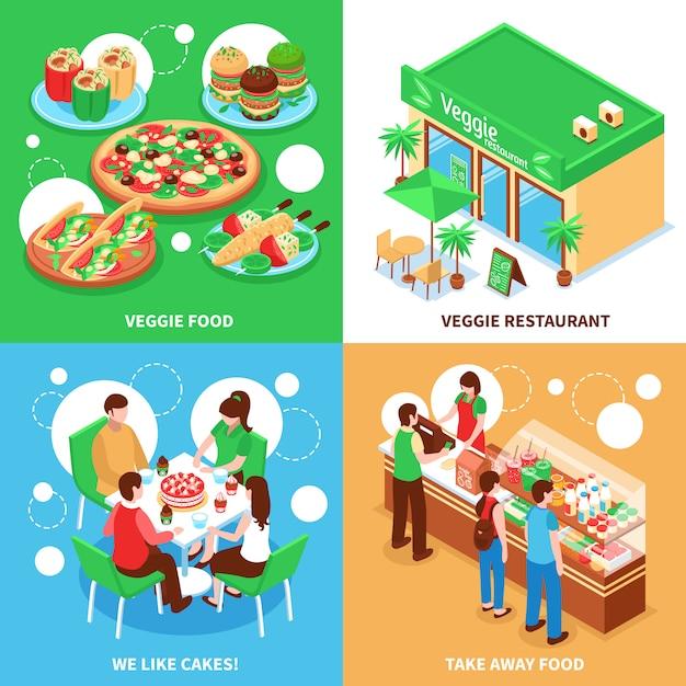 Végétarien Vecteur gratuit