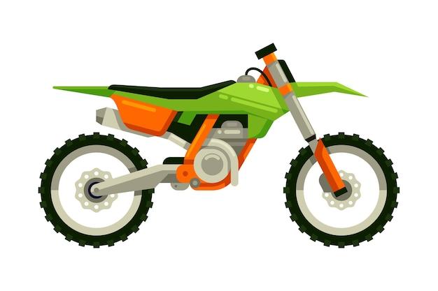 Vélo de motocross Vecteur Premium