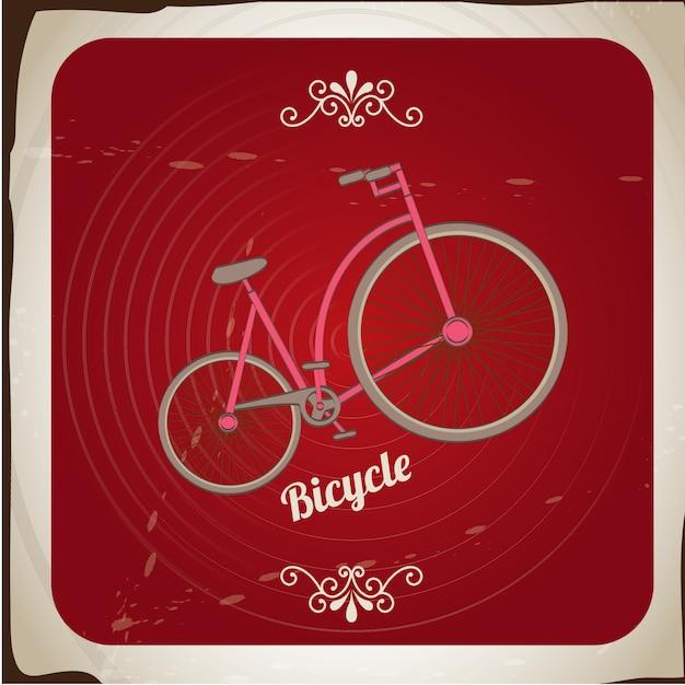 Vélo vintage Vecteur Premium