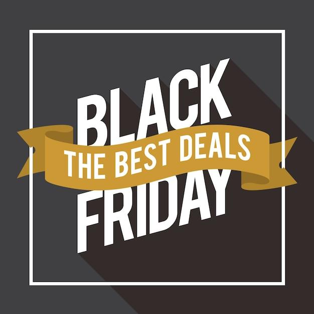 Vendredi noir la meilleure affaire Vecteur Premium