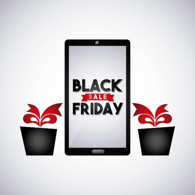 Vendredi noir vente commerce Vecteur Premium