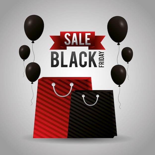 Vendredi Shopping Noir Vecteur gratuit
