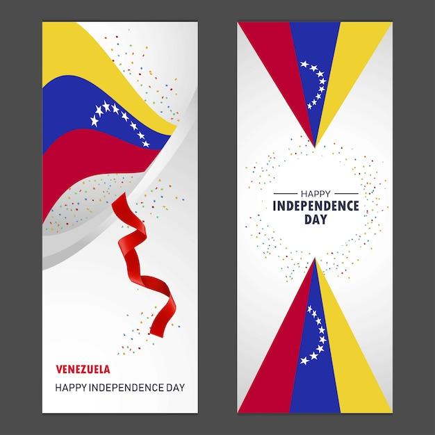 Venezuela bonne fête de l'indépendance Vecteur gratuit