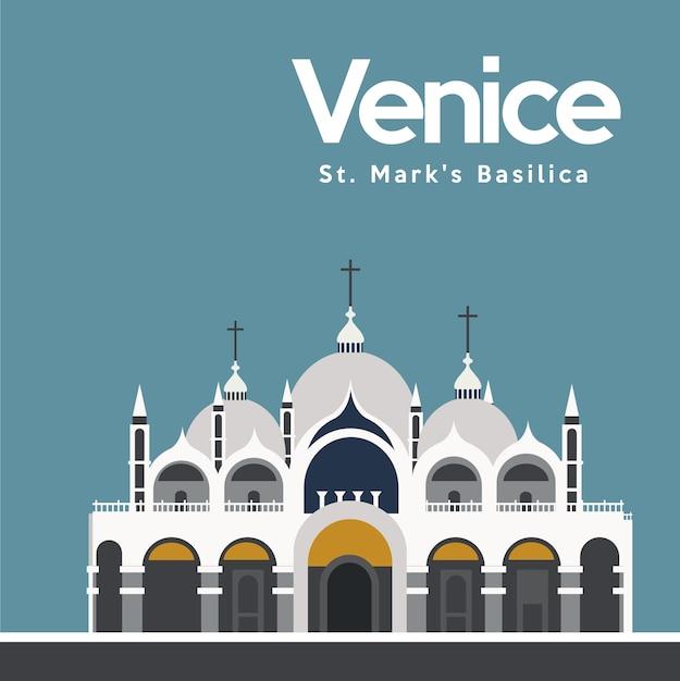 Venise conception d'arrière-plan Vecteur gratuit